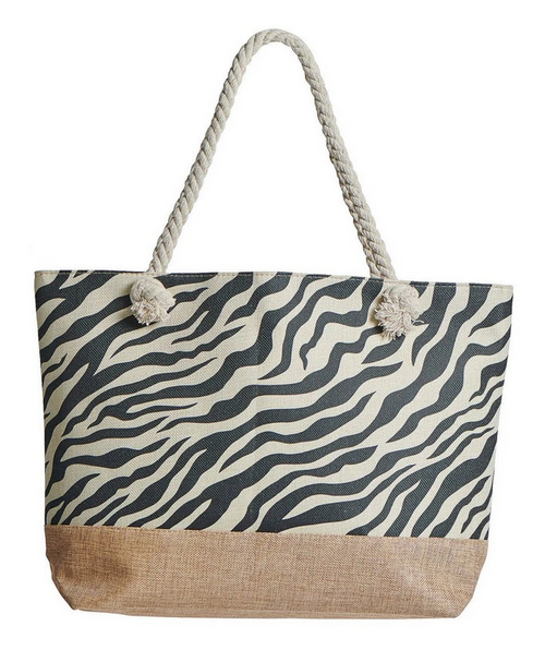 Animal Instinct Canvas Tote - Zebra