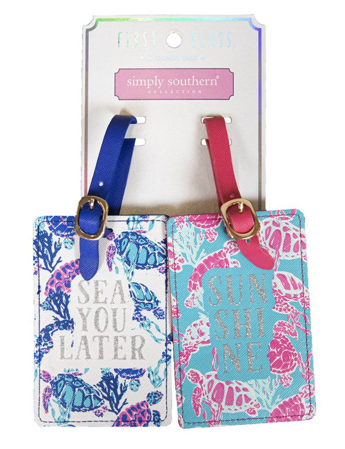 Simply Southern Luggage Tag Set - Turtle