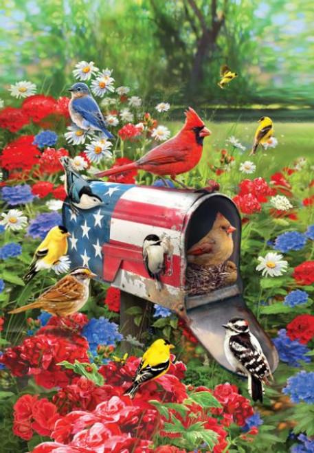 Songbirds Mailbox Garden Flag