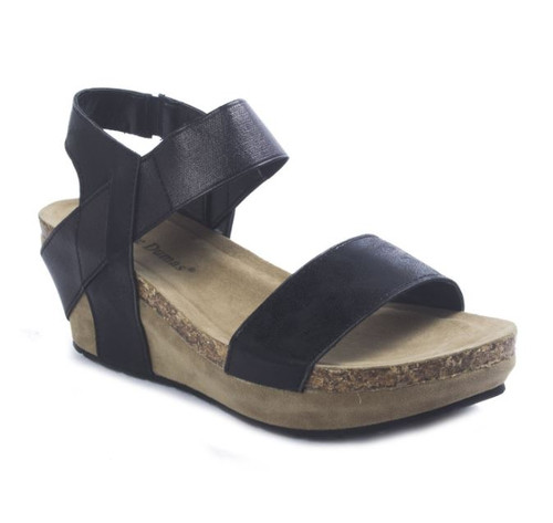 Chantal Wedge Sandal - Black
