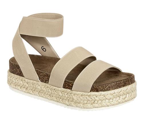 Makenna Mesa Platform Sandal - Nude