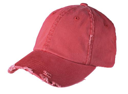 Distressed Ballcap - Red