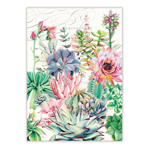 Pink Cactus Kitchen Towel