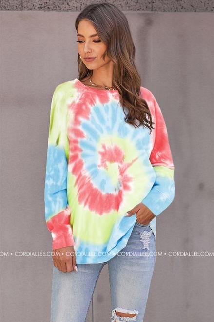 Ombre Tie Dye Sweatshirt - Multi