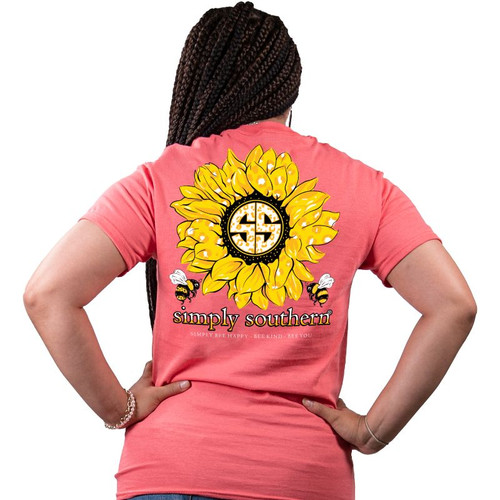 Simply Southern Short Sleeve Tee - Sunflower Bee