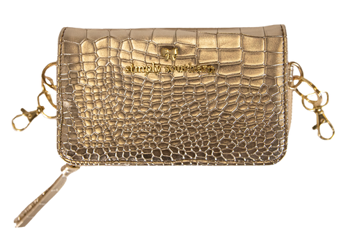 Simply Southern Leather Phone Crossbody - Gold