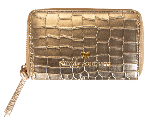 Simply Southern Leather Zip Wallet - Gold