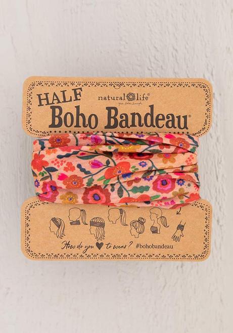 Half Bandeau Headband - Blush Floral
