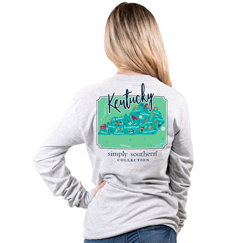 Simply Southern Long Sleeve Tee - Kentucky
