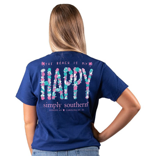 Simply Southern Short Sleeve Tee - Happy