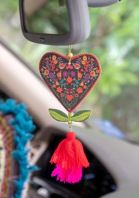 Floral Heart Car Air Freshener