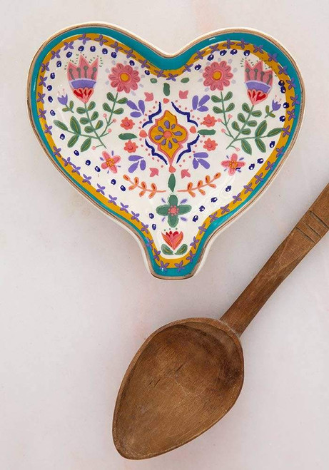 Heart Floral Spoon Rest