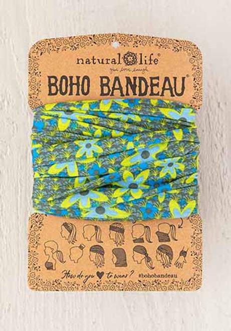 Boho Bandeau Headband - Blue Green