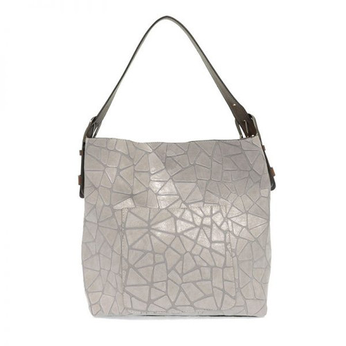 2in1 Geo Print Handbag - Light Grey