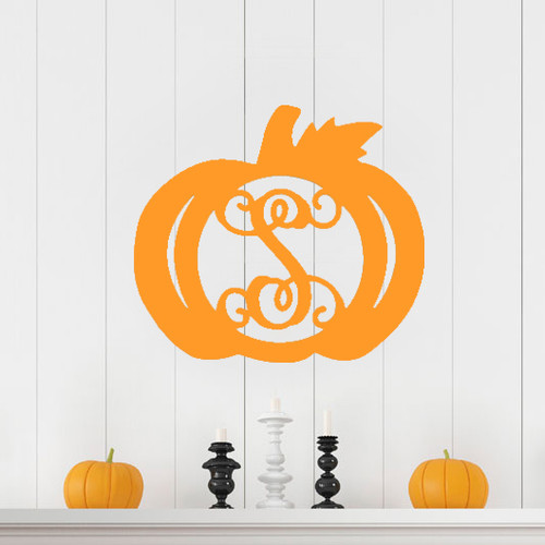 Wooden Single Initial - Pumpkin