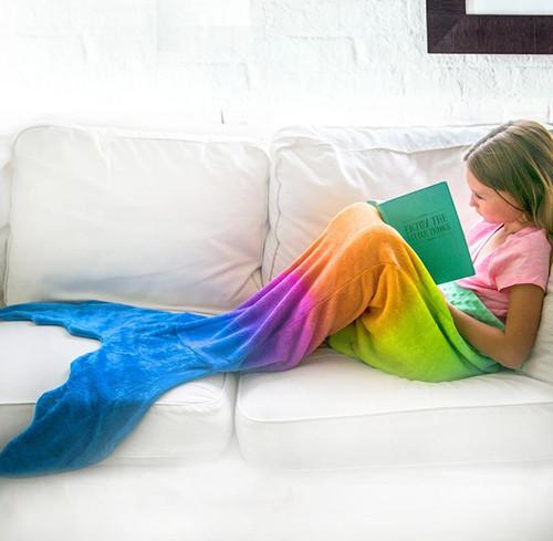 Mermaid Blankie Tail - Rainbow
