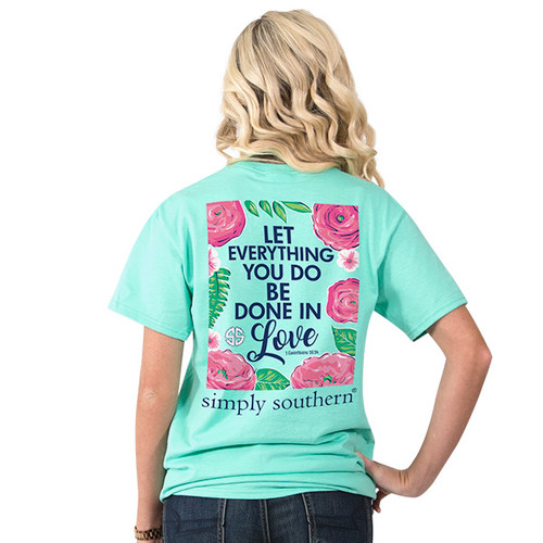 Simply Southern SS Tee - Preppy Let All