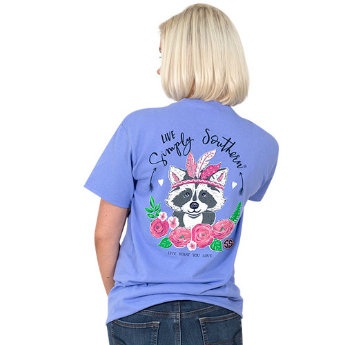 Simply Southern SS Tee - Preppy Raccoon
