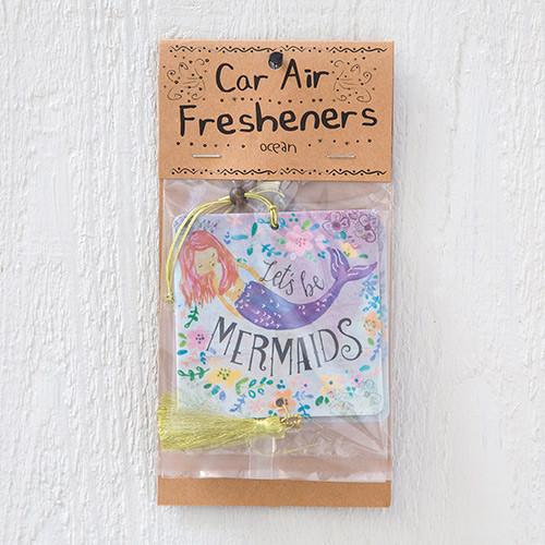 Car Air Freshener - Let's Be Mermaids