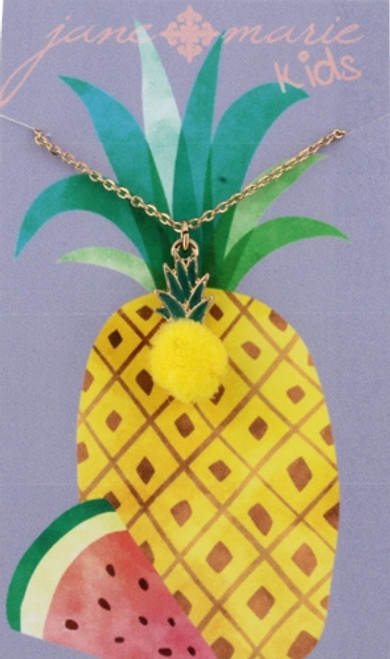 Pineapple Pom Necklace - Youth