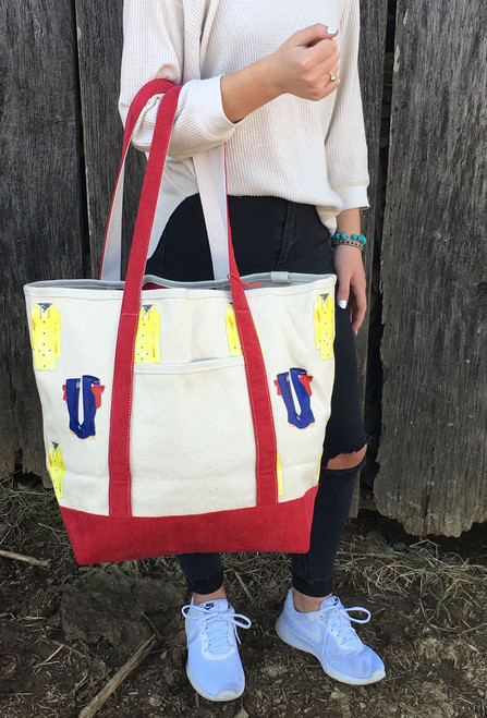 Canvas Shoulder Tote - Rainy Day