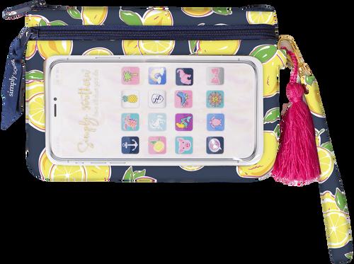Simply Southern Phone Wristlet - Lemon