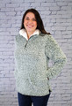 Bria Sherpa Pullover - Olive