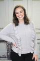 Dani Ruffle Knit Sweater - Dove Grey