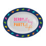 Oval Melamine Platter - Derby Party