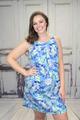 Madeline Seaweed Print Dress
