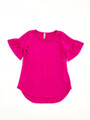 Millie Solid Top - Fuchsia