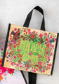 Medium Recycled Gift Bag - Happy Floral Wreath