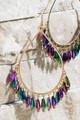 Teardrop Glass Bead Earrings - Multi