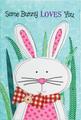 Some Bunny Applique Garden Flag
