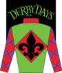 Derby Days Fleur De Lis Applique Garden Flag