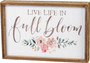 In Full Bloom Inset Box Sign