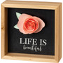 Life Is Beautiful Inset Box Sign
