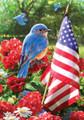 Bluebird Salute Garden Flag