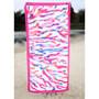 Coral Microfiber Beach Towel - Hot Pink