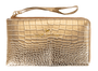 Simply Southern Leather Wristlet - Gold