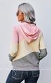 Kayla Colorblock Pocketed Hoodie - Pink