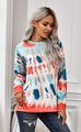 Jayda Side Slit Tie Dye  Sweatshirt - Multi