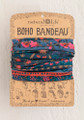 Boho Bandeau Headband - Midnight Floral
