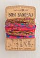 Boho Bandeau Headband - Scarlet Floral