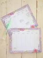 Floral Borders Weekly Desk Planner Pad