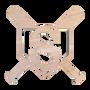 Wooden Single Initial - Baseball