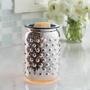 Glass Mosaic Warmer - Mercury Glass