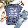 Support Wildlife Graphic Tee