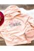 Team Mani-AC Full Front Peach Hooded Sweatshirt