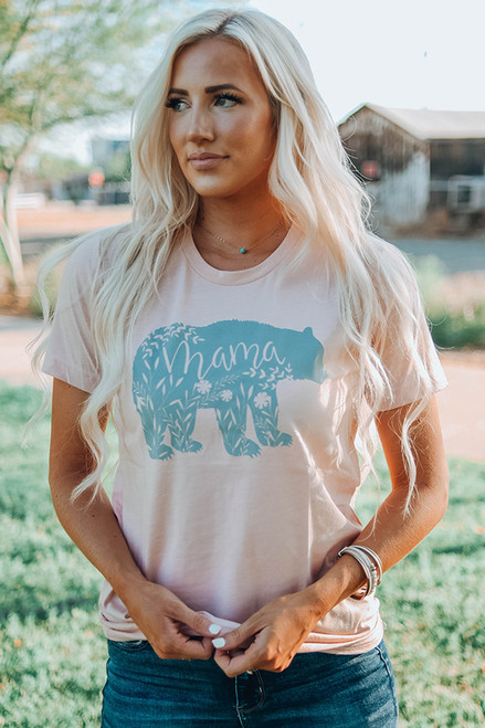 Floral Mama Bear Graphic Tee